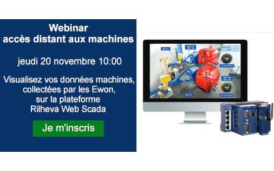 """Webinaire """"Visualisez vos données machines, collectées par les Ewon, sur la plateforme  Rilheva Web Scada"""""""