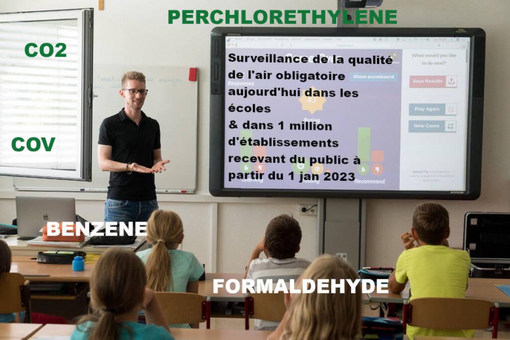 surveillance qualité air obligatoire dans les écoles et dans 1 million d'ERP à partir de 2023