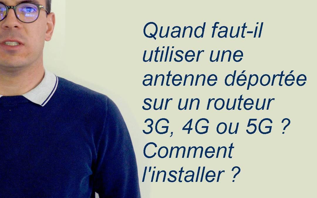 Quand monter une antenne externe sur un routeur 5G ?