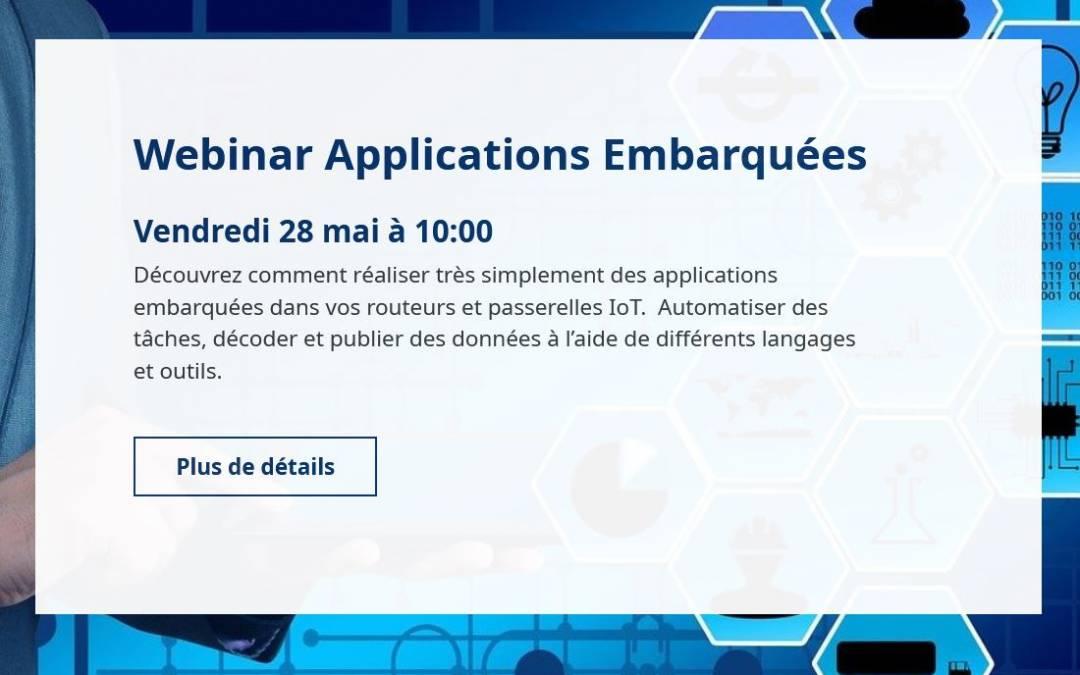 Applications embarquées – Webinaire du 28 mai 2021