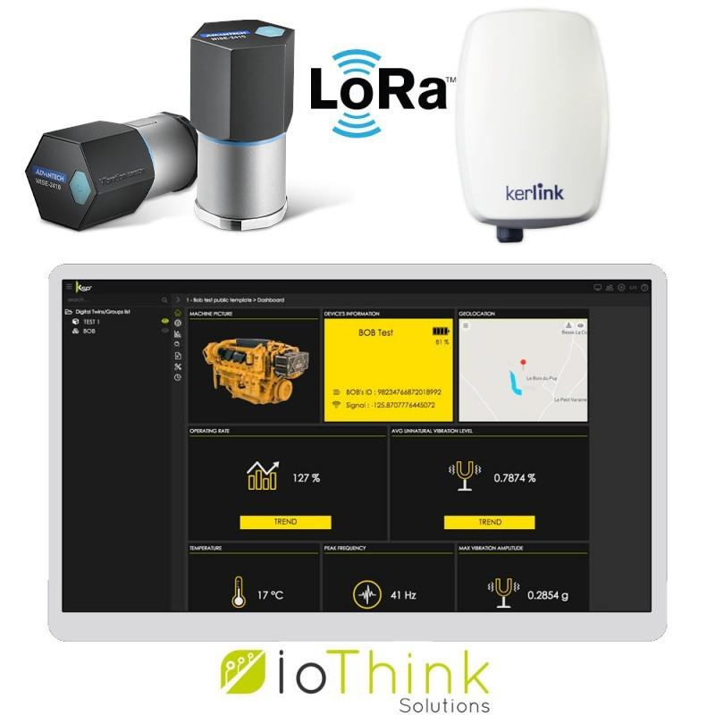 Capteur de vibrations pour la maintenance sur réseau LoRaWAN