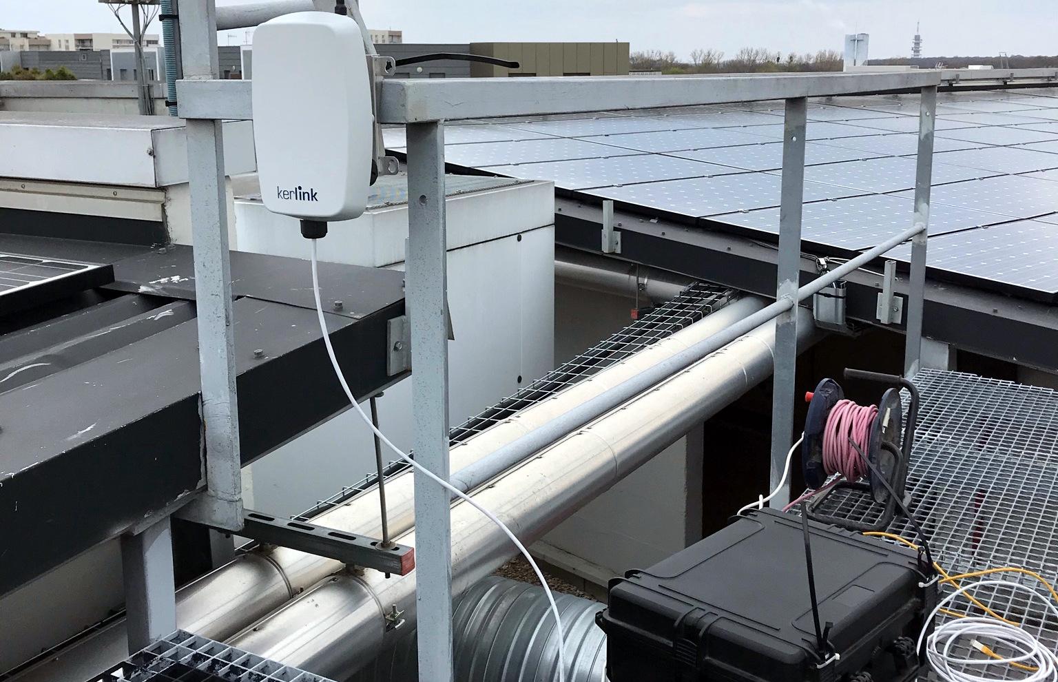 Test de couverture LoRaWAN - la passerelle ets installée sur les toits