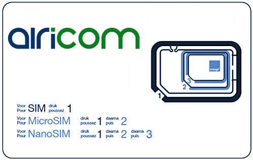 Carte abonnement réseaux  IoT AiRiCOM