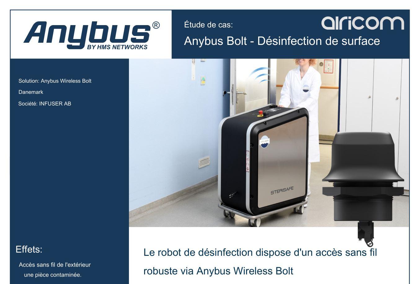 Cas d'usage du Bolt sur un robot de désinfection